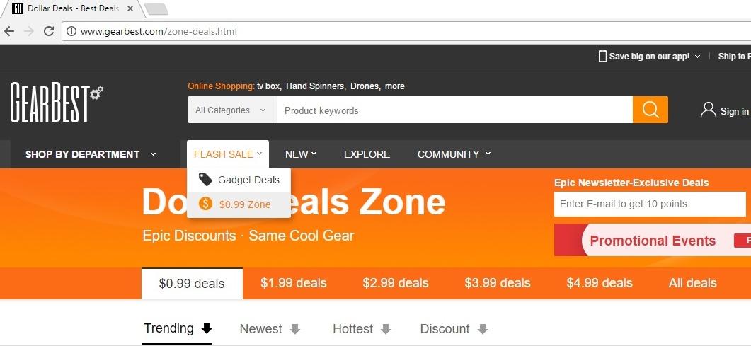GearBest $0.99 Zone