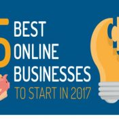 5 Best Online Businesses to Start in 2017 [INFOGRAPHIC]