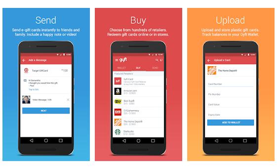 Gyft e-Wallet apps