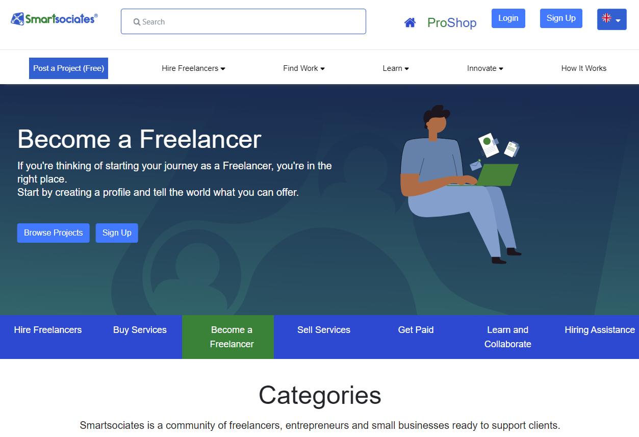 Smartsociates - Best Freelancing Portals